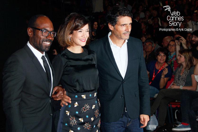 Lucien Jean-Baptiste, Mélanie Doutey et Pascal Elbé - Lyon - Ouverture du Festival Lumière 2014 - Photo © Anik COUBLE