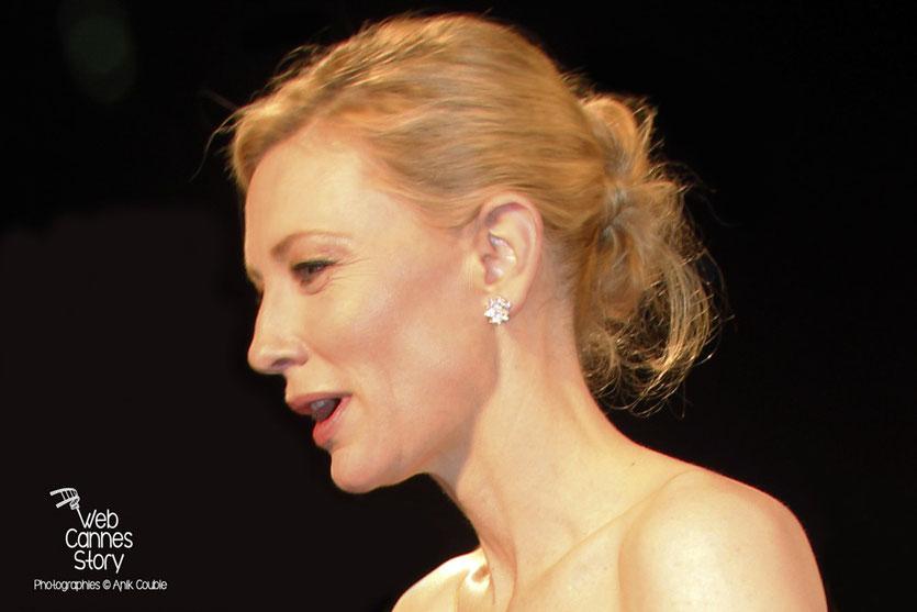 """Cate Blanchett, lors de la projection de """"Carol"""" de Todd Haynes - Festival de Cannes 2015 - photo © Anik COUBLE"""