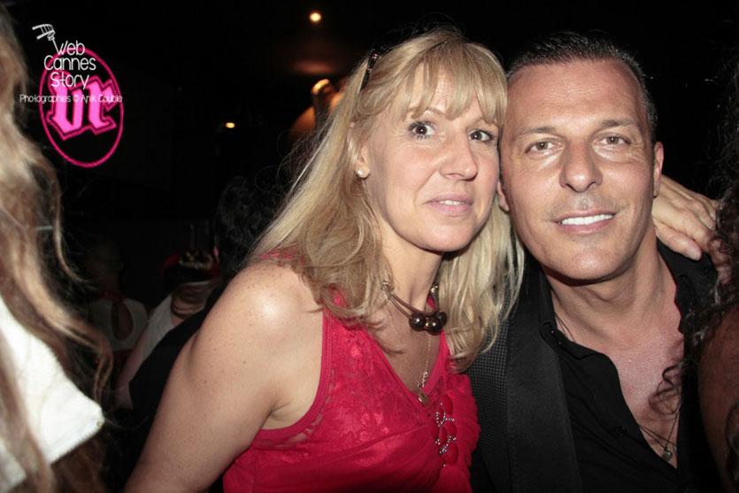 Patricia Vermare (Discothèque l'Imprévu à Lyon) et Jean-Roch (Vip Room)  - Festival de Cannes 2012 - Photo  © Anik Couble