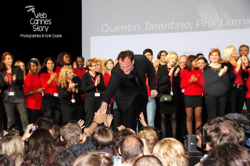 Quentin Tarantino,  à la rencontre du public de la Halle Tony Garnier - Clôture du Festival Lumière - Lyon - 2013 - Photo © Anik COUBLE