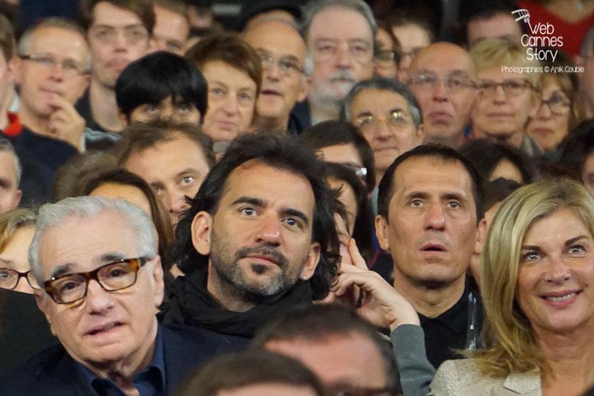Martin Scorsese entouré de Pablo Trapero et Michèle Laroque - Clôture du Festival Lumière 2015 - Lyon  - Photo © Anik COUBLE