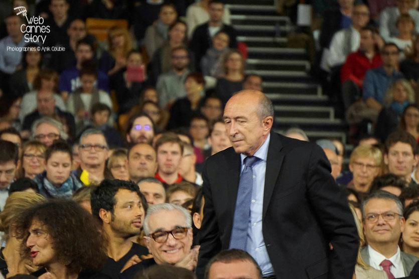 Martin Scorsese et Gérard Collomb, parmi le public de la Halle Tony Garnier - Clôture du Festival Lumière 2015 - Lyon  - Photo © Anik COUBLE