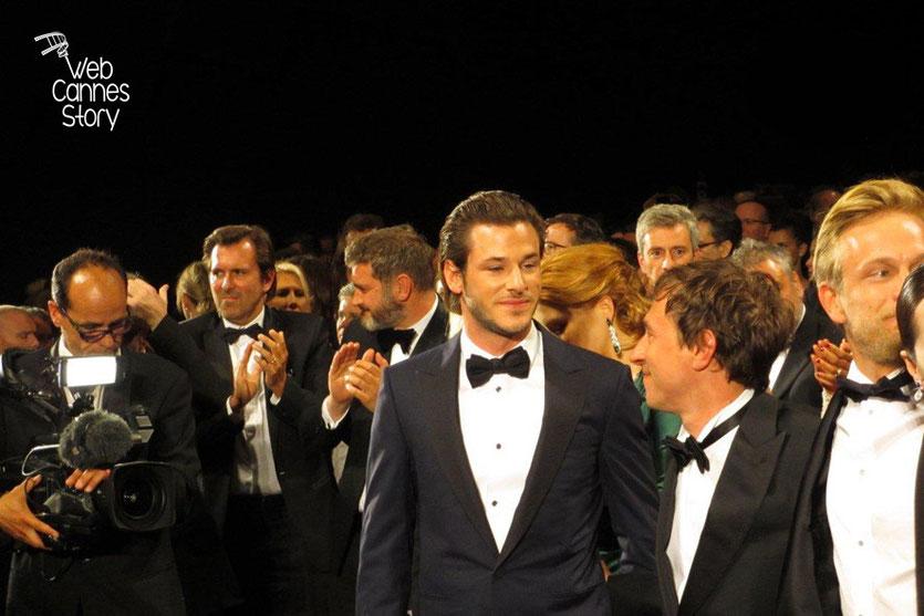 Gaspard Ulliel, Bertrand Bonello, réalisateur du film « SAINT LAURENT » et Jérémie Renier - Festival de Cannes 2014 - Photo © Raymond HAIK