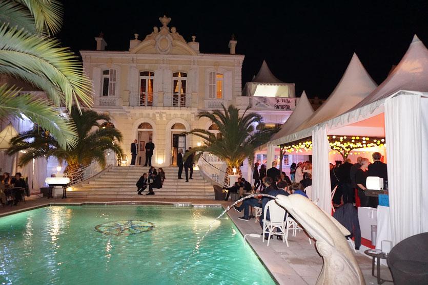 La sublime Villa Ratapoil et sa formidable ambiance, de jour comme de nuit - Festival de Cannes 2016 - Photo © Anik Couble