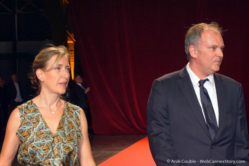 Christian Carion et sa compagne, lors de la cérémonie d'ouverture du Festival Lumière 2017, à Lyon - Photo © Anik Couble