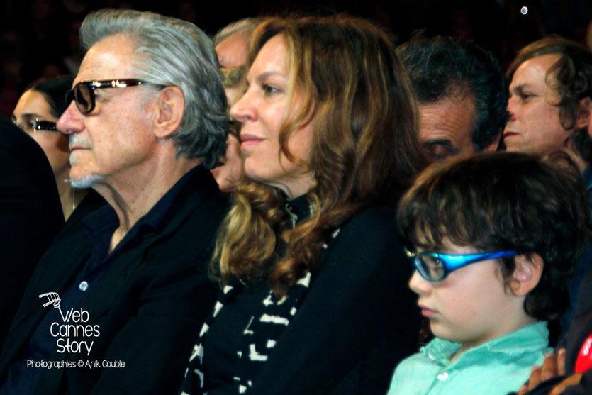 Harvey Keitel, sa compagne et son fils - Clôture du Festival Lumière - Lyon - 2013 - Photo © Anik COUBLE