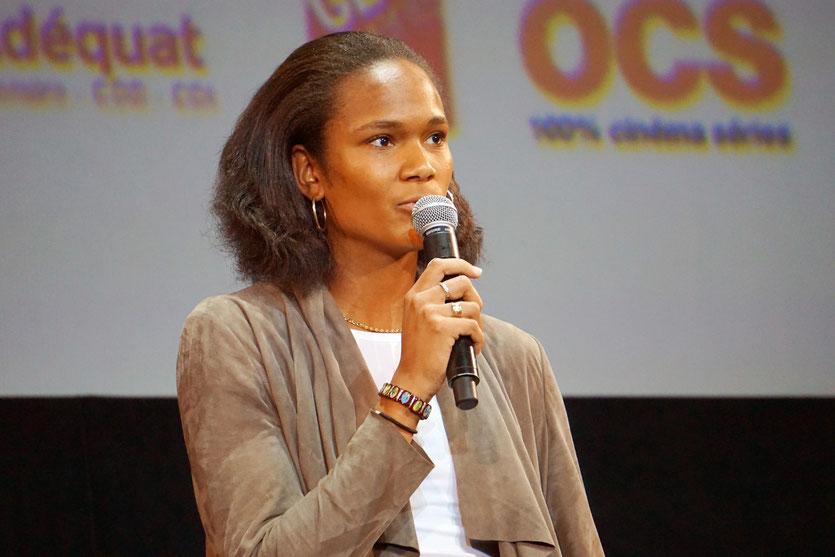Wendie Renard, capitaine de l'OL, lors de la cérémonie d'ouverture du Festival Lumière 2015 - Lyon - Photo © Anik COUBLE