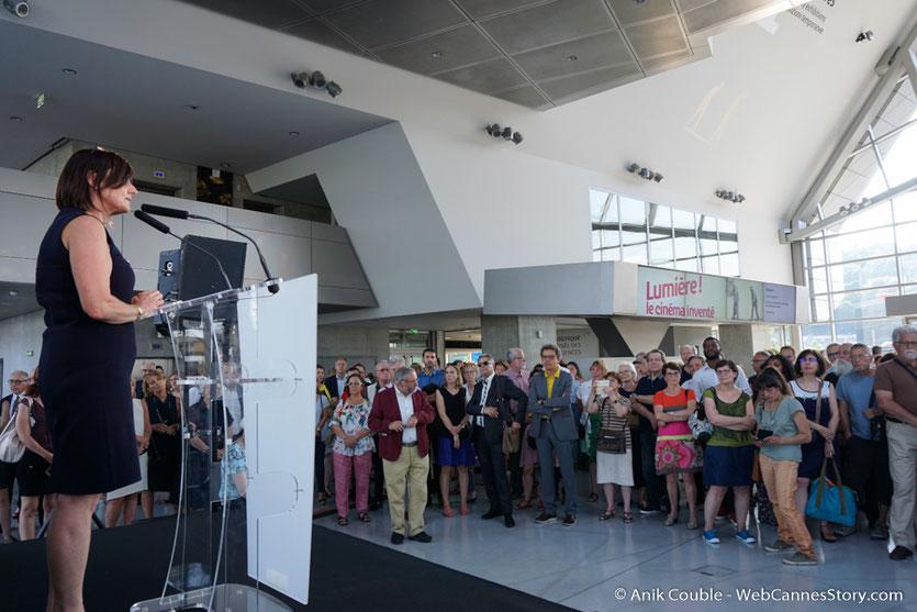 Max Lefrancq-Lumière, petit-fils de Louis Lumière, lors du vernissage de l'exposition Lumière !  Le cinéma inventé - Musée des  Confluences - Lyon - Juin 2017  - Photo © Anik Couble