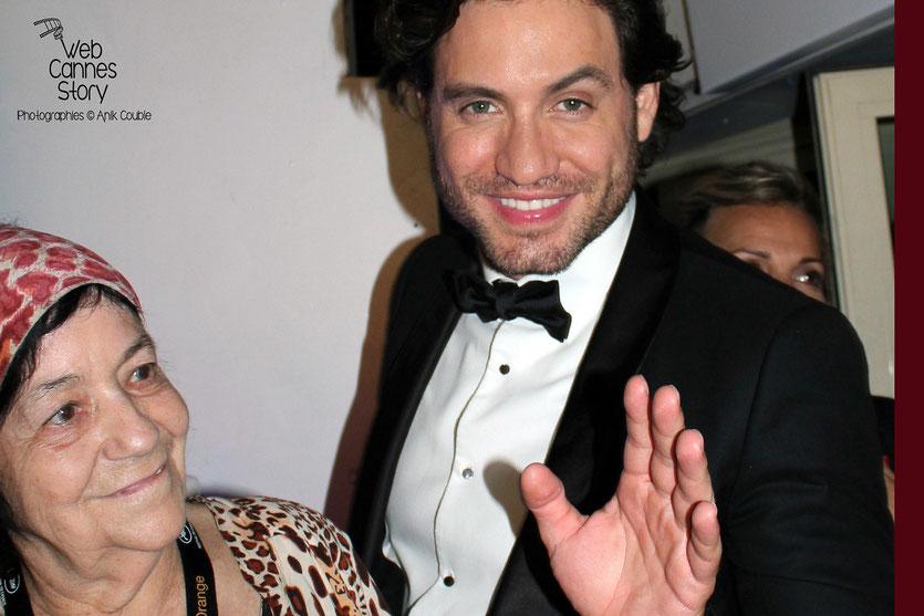 Pascaline Benito, la célèbre femme panthère et Edgar Ramirez - Festival de Cannes 2011 - Photo © Anik Couble