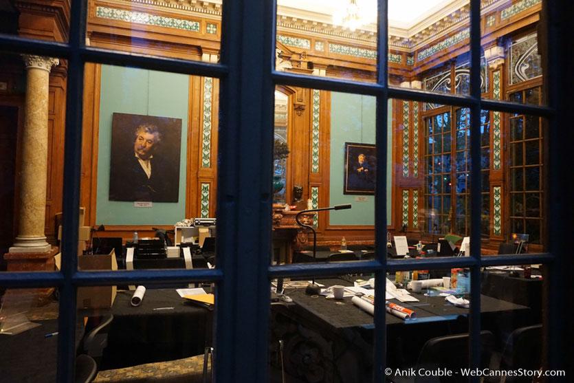 La salle de presse du Festival, installée dans la Villa Lumière  - Festival Lumière 2016 - Lyon - Photo © Anik Couble