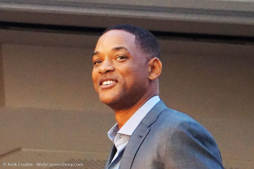 "Will Smith, membre du Jury, à la terrasse de ""La Palme d'Or"" le restaurant de l'Hôtel Martinez, pour le traditionnel dîner du Jury - Festival de Cannes 2017 - Photo © Anik Couble"