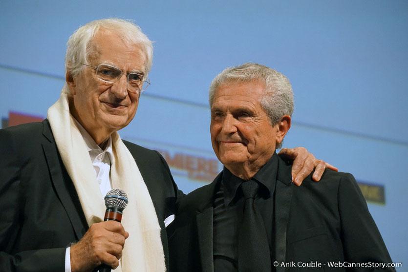 Bertrand Tavernier et Claude Lelouch, lors de l'hommage que le Festival Lumière a rendu à Claude Lelouch - Festival Lumière 2018 - Lyon - Photo © Anik Couble