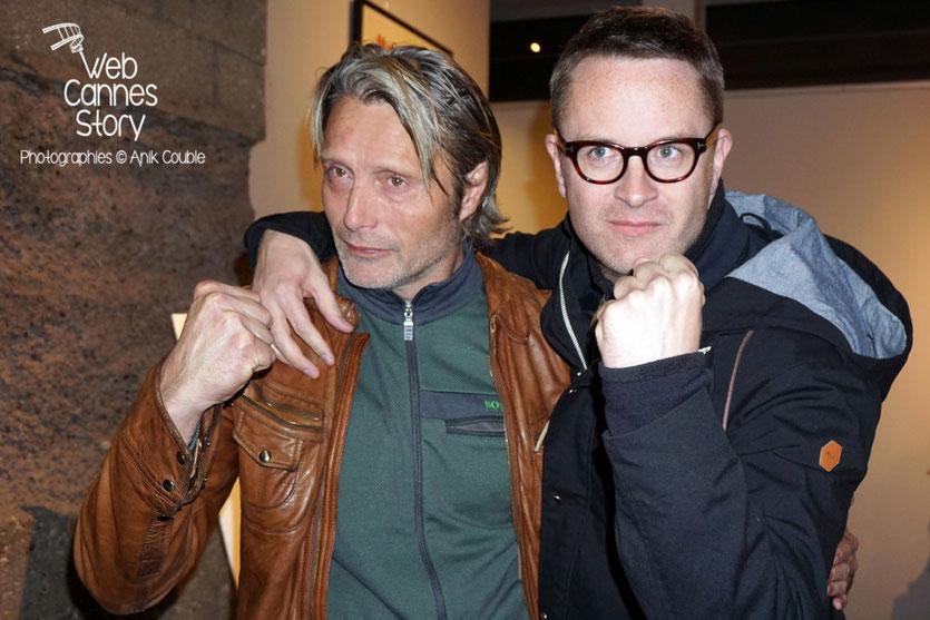 Mads Mikkelsen et Nicolas Winding Refn, deux danois à Lyon - Festival Lumière 2015 - Photo © Anik COUBLE