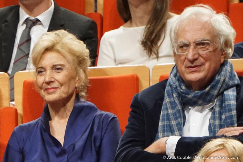 Marisa Paredes et Bertrand Tavernier - Cérémonie de remise du Prix Lumière - Amphithéâtre 3000 - Lyon - Oct 2016 - Photo © Anik Couble