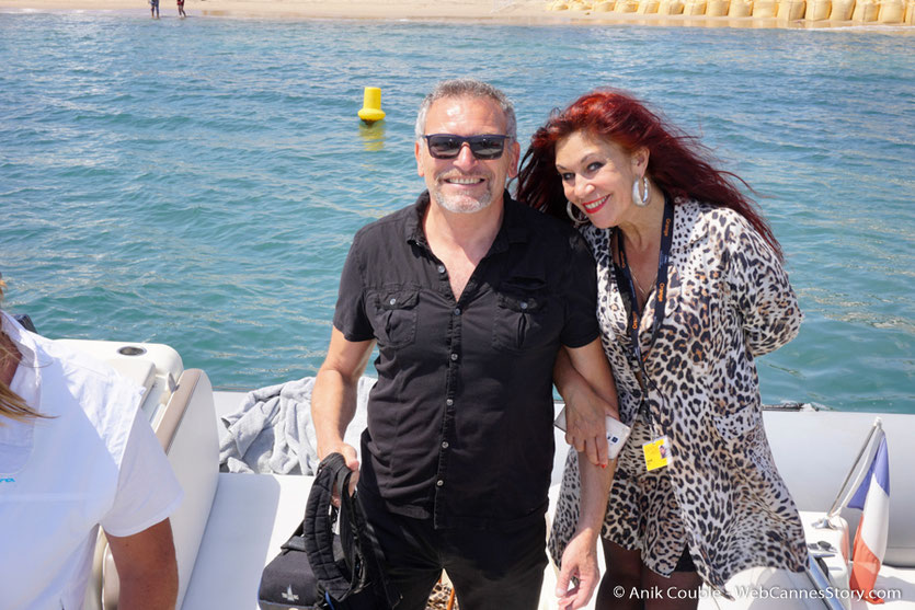 """Départ de Serge Mauro et Esméralda Petit Benito, pour la visite du """" Sam Simon"""", l'un des bateaux de la fondation Sea Shepherd - Festival de Cannes 2016 - Photo © Anik Couble"""