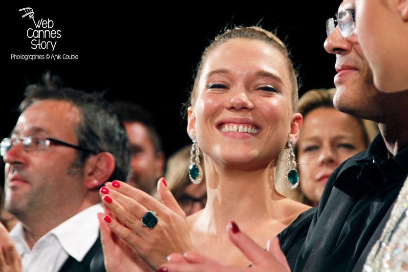 Léa Seydoux  lors la projection, du film «La Vie d'Adèle» d' Abdellatif Kechiche- Festival de Cannes 2013 - Photo © Anik COUBLE