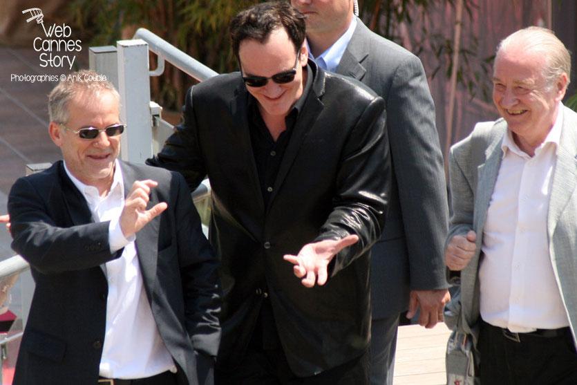 """Quentin Tarantino lors de sa """"Leçon de Cinéma"""" - Festival de Cannes - 2008 - Photo © Anik COUBLE"""