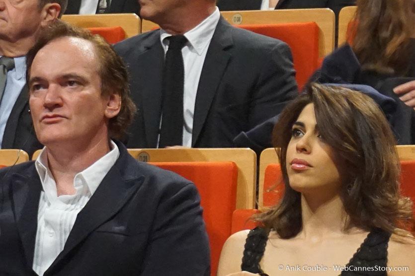 Quentin Tarantino et sa compagne Daniella Pick - Cérémonie de remise du Prix Lumière - Amphitheâtre 3000 - Lyon - Oct 2016  - Photo © Anik Couble