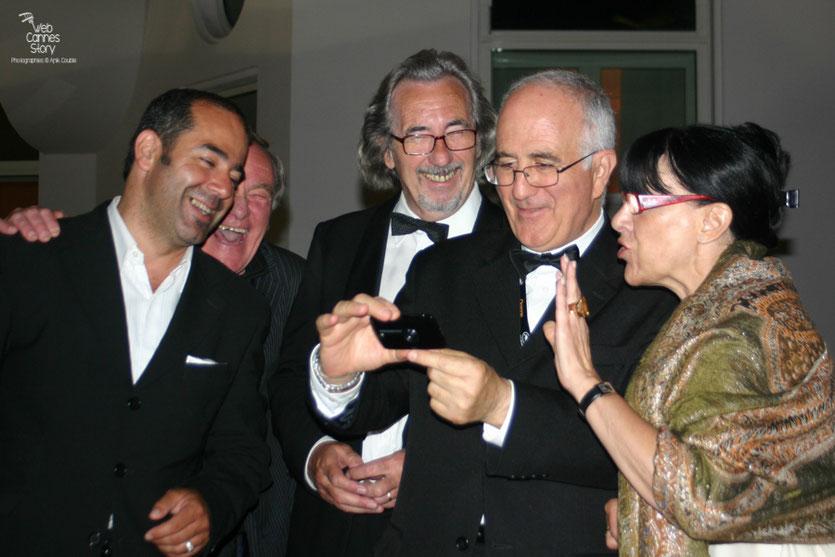 Max Manzo, Robert Barnoin, Raymond Haïk et Monique Serrano - Barnoin - Festival de Cannes 2010 - Photo © Anik Couble