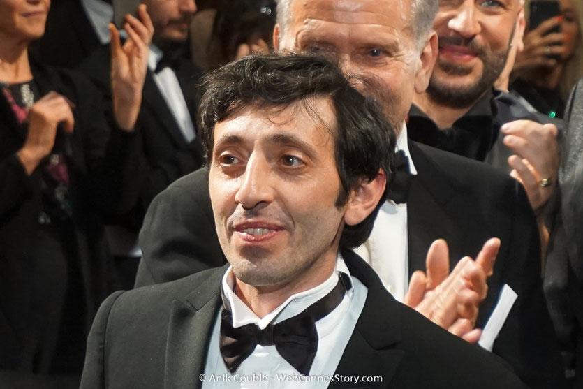 Marcello Fonte, lors de la projection du film, Dogman, de Matteo Garrone, présenté, le 16 mai  2018, en sélection officielle - Festival de Cannes 2018 - Photo © Anik Couble