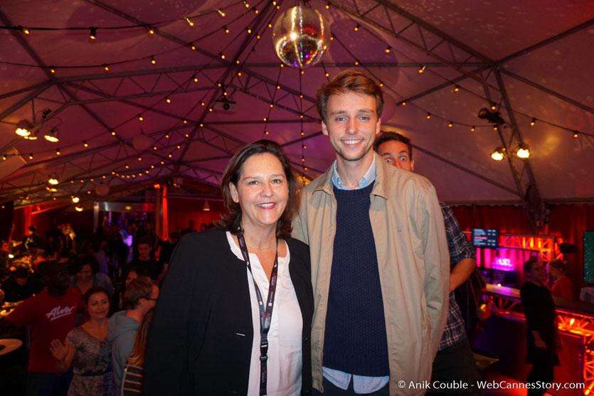 Louis Albinet,  en compagnie de  sa tante, Sylvaine Vallini,  lors d'une très festive soirée à La Plateforme - Nuits Lumière - Festival Lumière 2016 - Lyon - Photo © Anik Couble