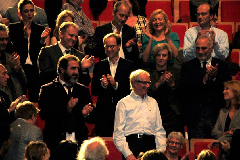 Ken Loach et Eric Cantona - Festival Lumière 2012 - Lyon - Photo © Anik Couble