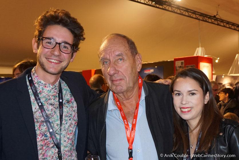 Max Lefrancq-Lumière, entouré de Camille Sarrazin et François Malllet - Village du Festival -  Festival Lumière 2016 - Lyon - Photo © Anik Couble