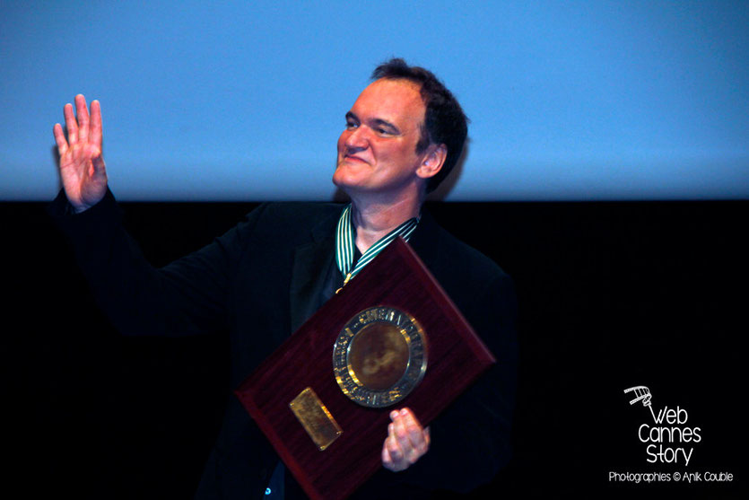 Quentin Tarantino et son Prix Lumière -  Festival Lumière - Lyon - Oct 2013 - Photo © Anik COUBLE