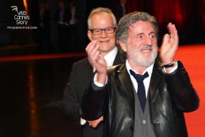 Daniel Auteuil et Thierry Fremaux, lors de la cérémonie d'ouverture du Festival Lumière 2015 - Lyon - Photo © Anik COUBLE