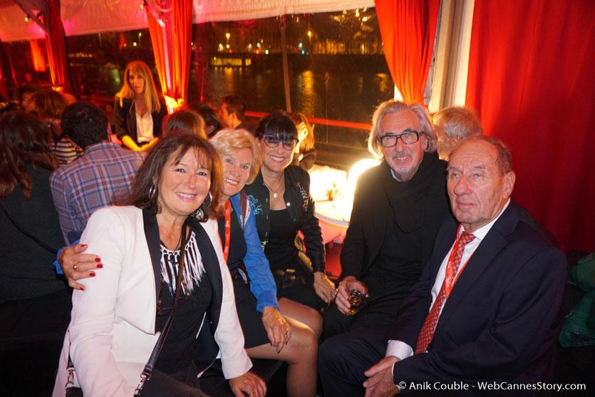 En compagnie de Max Lefrancq-Lumière (petit-fils de Louis Lumière) et son épouse Michèle ainsi que Robert Barnouin et son épouse Monique - Festival Lumière 2016 - Lyon - Photo © Anik Couble