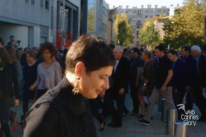 Isabella Rosselini, lors du remake de la Sortie des Usines - Festival Lumière - Lyon - Octobre 2014 - © Catherine et Cédric Laubier