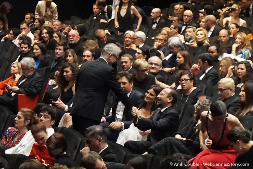 L'équipe du film, Todos lo saben (Everybody Knows), de  Asghar Farhadi, présenté, à l'issue la cérémonie d'ouverture, du Festival de Cannes 2018 - Photo © Anik Couble