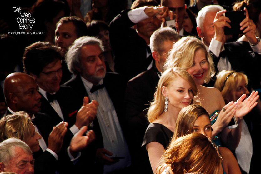 """Emma Stone, lors la projection du film """"The sea of trees"""" de Gus Van Sant - Festival de Cannes 2015 - Photo © Anik COUBLE"""