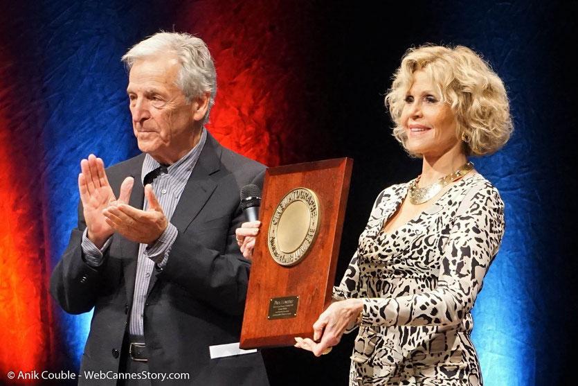 Jane Fonda et Costa Gavras, lors de la Cérémonie de Remise du Prix Lumière - Festival Lumière 2018 - Lyon - Photo © Anik Couble