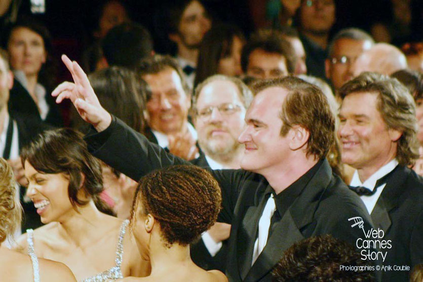 "Quentin Tarantino à la projection du film ""Boulevard de la Mort"" - Festival de Cannes - 2007 - Photo © Anik COUBLE"