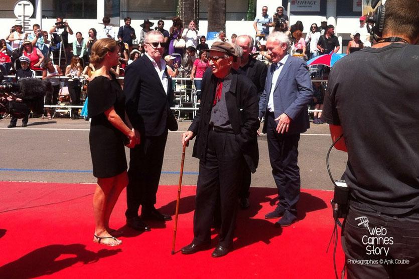 Arrivée des frères Taviani et des frères Dardenne, pour les 120 ans du Cinéma et l'hommage aux frères Lumière - Festival de Cannes 2015 - Photo © Anik COUBLE