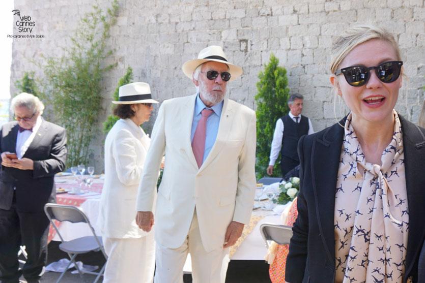 Kirsten Dunst, Donald Sutherland et George Miller, lors  du déjeuner de presse - Festival de Cannes 2016 - Photo © Anik Couble