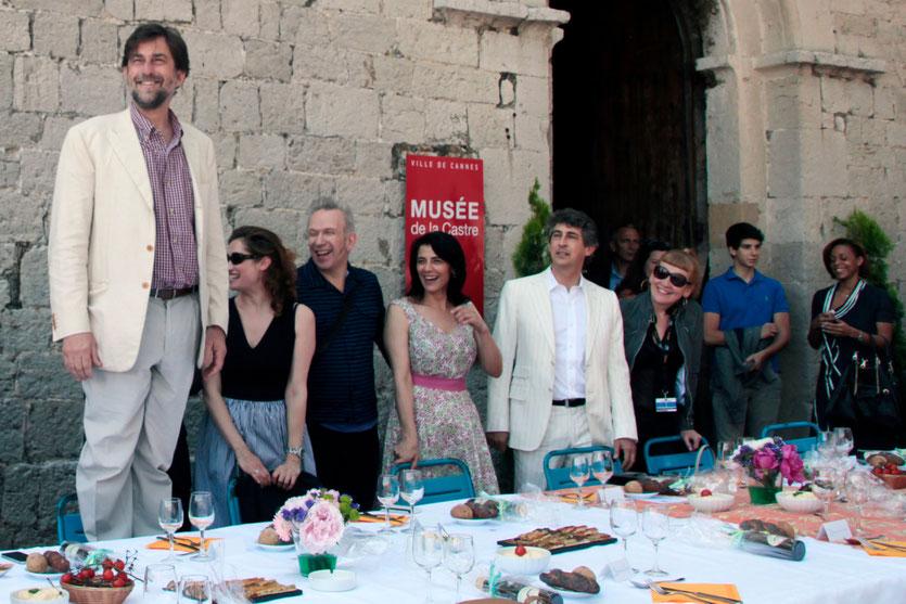 Nanni Moretti - Président du Jury du Festival de Cannes, entouré de ses jurés - Festival de Cannes 2012 - Photo © Anik COUBLE