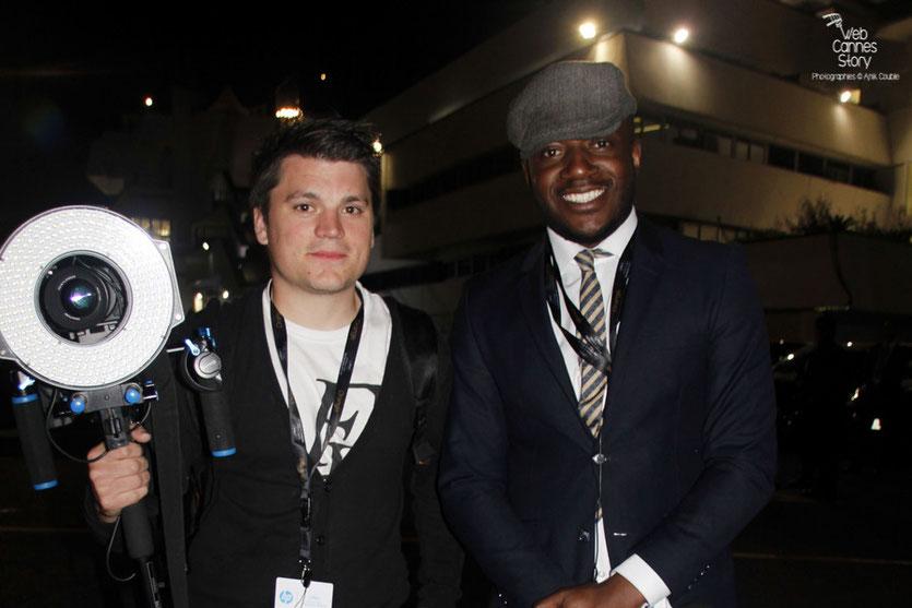 L'équipe de choc de Star 24 - Maklor et son cameraman - Festival de Cannes 2015 - Photo © Anik Couble