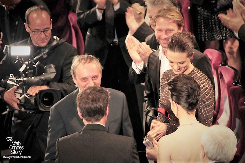 """Dario Argento, Asia Argento, Thomas Kretschmann et Marta Gastini, lors de la projection du film """"Dario Argento Dracula"""" de Dario Argento  - Festival de Cannes 2012 - Photo  © Anik Couble"""