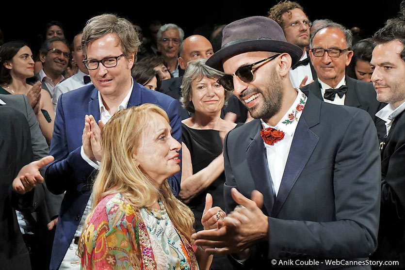 "Rosalie Varda-Demy, la fille d'Agnès Varda et JR, lors de la projection du film documentaire ""Visages Villages"", d'Agnès Varda et JR - Festival de Cannes 2017 - Photo © Anik Couble"