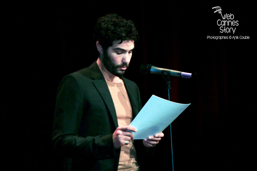 Tahar Rahim, lors de la remise du Prix Lumière à Pedro Almodovar - Festival Lumière - Lyon - Oct 2014 - Photo © Anik COUBLE