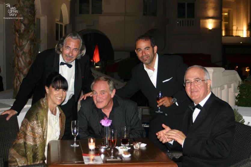 Monique Serrano-Barnoin, Robert Barnoin, Max Manzo et Raymond Haïk  - Festival de Cannes 2010 - Photo © Anik Couble