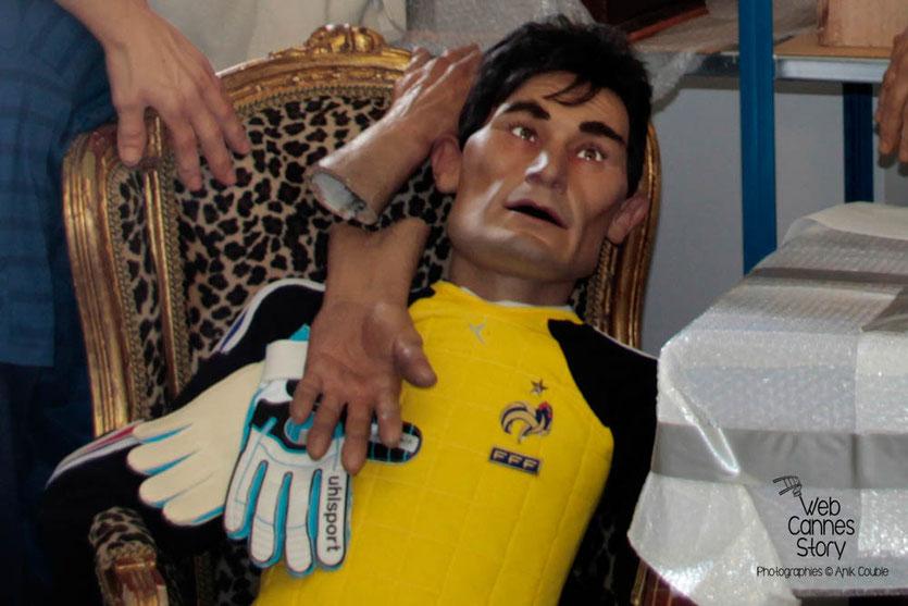 La marionnette de Grégory COUPET - Coulisses des Guignols de l'info - Festival de Cannes 2012  © Anik COUBLE