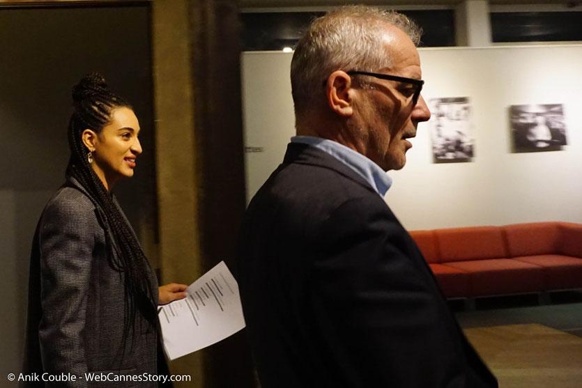 Camélia Jordana, accompagnée de Thierry Frémaux, pour son concert, consacré aux chansons du répertoire du cinéma français, lors du Festival  Lumière 2018 - Lyon - Photo © Anik Couble
