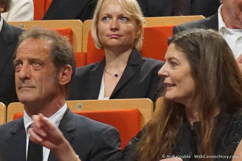 Chiara Mastroiani, Vincent Lindon et Caroline Collomb - Cérémonie de remise du Prix Lumière - Amphitheâtre 3000 - Lyon - Oct 2016  - Photo © Anik Couble