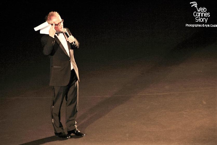 """Thierry Frémaux,  ors de la projection du film """"Dario Argento Dracula"""" de Dario Argento  - Festival de Cannes 2012 - Photo  © Anik Couble"""
