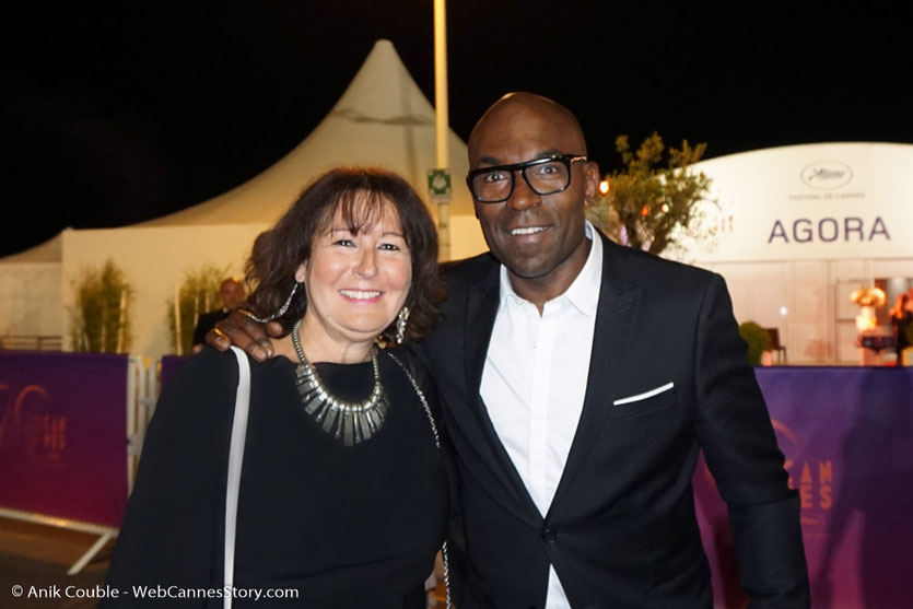 En compagnie de Lucien Jean-Baptiste - Festival de Cannes 2017 - Photo © Anik Couble