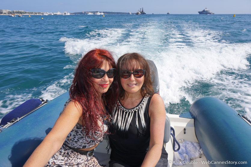 """Départ, en compagnie d'Esméralda Petit Benito,  du """"Sam Simon"""",  l'un des bateaux de la fondation Sea Shepherd - Festival de Cannes 2016 - Photo © Anik Couble"""