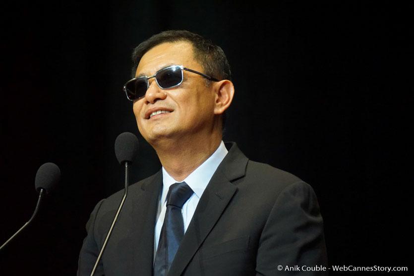Wong Kar-wai, lors de la cérémonie de remise de son Prix Lumière  - Festival Lumière 2017 - Lyon  - Photo © Anik Couble